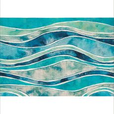 "Liora Manne Illusions Wave Indoor/Outdoor Mat Ocean 23""X35"""