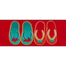 "Liora Manne Illusions Flip Flop Ombre Indoor/Outdoor Mat Red 23""X59"""