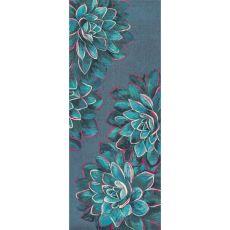 """Liora Manne Illusions Succulent Indoor/Outdoor Mat Lapis 23""""X59"""""""
