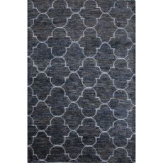 Trellis, Chain & Tiles Pattern Jute And Wool Ithaca Area Rug
