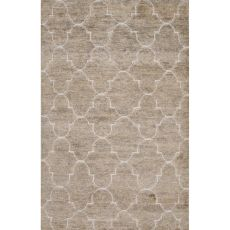 Naturals Trellis, Chain And Tile Pattern Gray/Ivory Jute And Wool Area Rug (8X11)