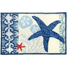 Italian Tile with Starfish Rug