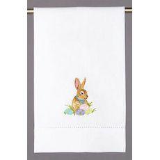 Easter Bunny & Eggs Guest Towel 1 Des