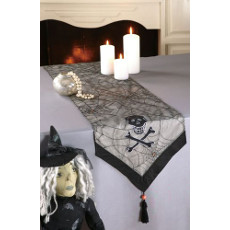 Skull & Spider Web Table Runner
