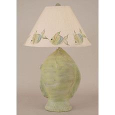 Angel Fish Pot Table Lamp - Cottage Seagrass