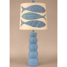 5 Ball Pot Table Lamp With Angel Fish Lamp Shade