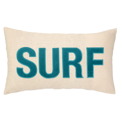 Surf Embroidered Pillow