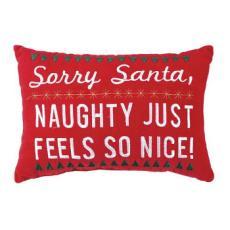 NAUGHTY FEELS NICE EMB VEL Pillow