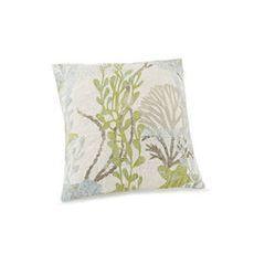 Ocean Botanical Quilted Pillow Blown Fill
