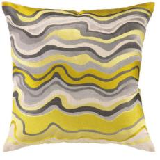 Waterflow Embroidered pillow Citron 20X20""