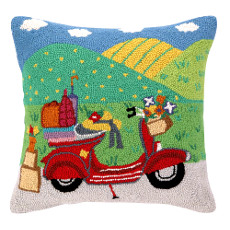 Going Places Scooter  Hook Pillow