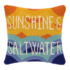 Sunshine and Saltwater Hooked Pillow