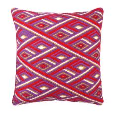 Marcella Red Bargello Pillow