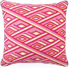 Marcella Pink Bargello Pillow