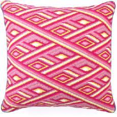 Marcella Pink Bargello Pillow