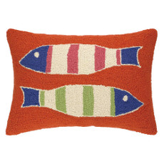 Picket Fish Orange Hook Pillow