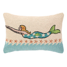 Blonde Mermaid Pillow