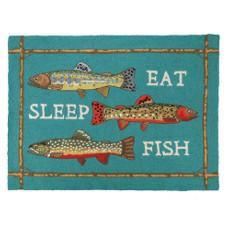 Eat Sleep & Fish Hook Rug