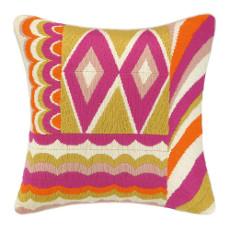 Coronado Pink Bargello Needle Point Pillow