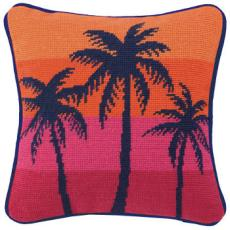 City Inspire NP Palm Orange Pillow