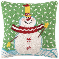 Cardinal Snowman With Snow Hp 16X16""