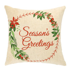 Season Greetings  Printed Pillow