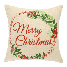 MERRY CHRISTMAS Printed Pillow