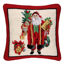 Santa And Teddy Np Pillow