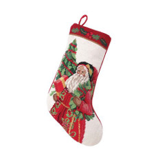Holly Sparkle Christmas Stocking
