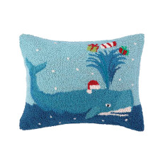 Whale Holiday Hook Pillow