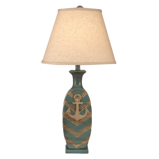 Chevon Pot Anchor Accent Table Lamp
