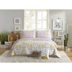 Tiger Flower Full / Queen Quilt, 3 Piece Set
