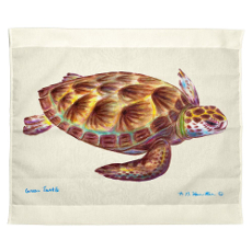 Green Sea Turtle Outdoor Wall Hanging 24X30