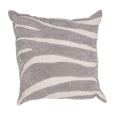 """Animal Print Pattern Gray Cotton Down Fill Pillow ( 22""""X22"""")"""
