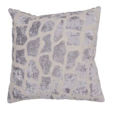 "Animal Print Pattern Gray Linen Down Fill Pillow ( 22""X22"")"