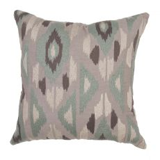 "Southwestern & Country Pattern Green Cotton Down Fill Pillow ( 22""X22"")"