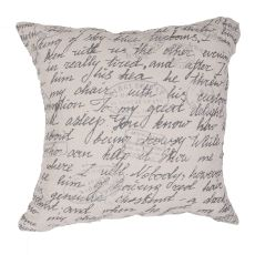 """Traditional & Classic Pattern Ivory Jute And Cotton Down Fill Pillow ( 22""""X22"""")"""