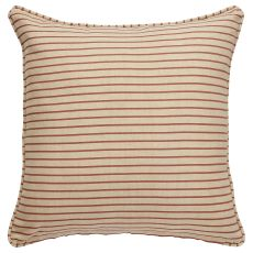 "Stripes Pattern Neutral/Red Cotton Down Fill Pillow ( 20""X20"")"