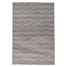 Geometric Pattern Gray/White Wool, Polyester And Polypropylene Area Rug ( 7.10X9.6)