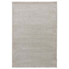 Solids & Heather Pattern White/Gray Wool, Polyester And Polypropylene Area Rug ( 7.10X9.6)