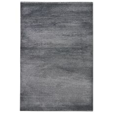 Vintage Look Pattern Gray/Silver Wool, Polyester And Polypropylene Area Rug ( 7.10X9.6)