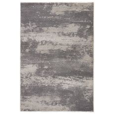 Vintage Look Pattern Gray/White Wool, Polyester And Polypropylene Area Rug ( 7.10X9.6)