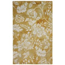 """Floral Gold Rug 42"""" x 66"""""""