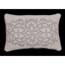 """Traditional & Classic Pattern Gray Linen Poly Pillow ( 16""""X24"""")"""