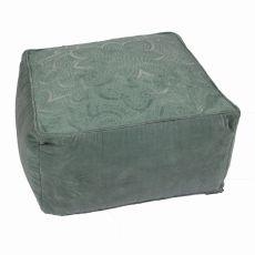 """Green Cotton Pouf (24""""X24""""X12"""")"""