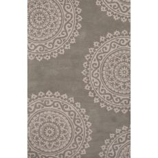 Contemporary Medallion Pattern Blue/Ivory Wool Area Rug (8X11)
