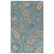 Contemporary Paisley Pattern Blue/Yellow Wool Area Rug ( 8X11)