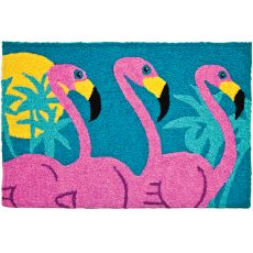 """Tropical Flamingos Indoor/Outdoor Rug, 20"""" X 30"""""""