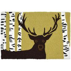 """Buck In Birch Woods Indoor/Outdoor Rug, 20"""" X 30"""""""