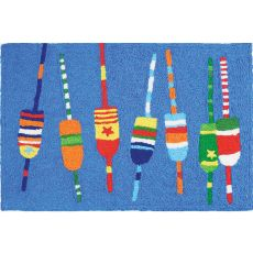 "Colorful Buoys Indoor/Outdoor Rug, 20"" X 30"""